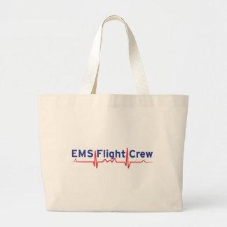EMS Flight Crew (fwd banner) Large Tote Bag