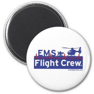 EMS Flight Crew Helicopter Alternate Logo 2 Inch Round Magnet