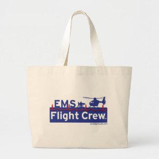 EMS Flight Crew Helicopter Alternate Logo Large Tote Bag