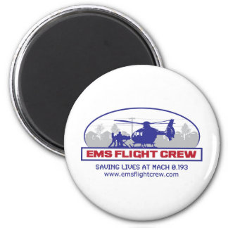 EMS Flight Crew Rotorwing 2 Inch Round Magnet