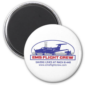 EMS Flight Crew Turboprop 2 Inch Round Magnet