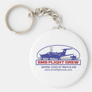 EMS Flight Crew Turboprop Basic Round Button Keychain