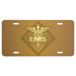 EMS (gold)(diamond) License Plate
