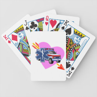 EMS Heart of Care Bicycle Playing Cards
