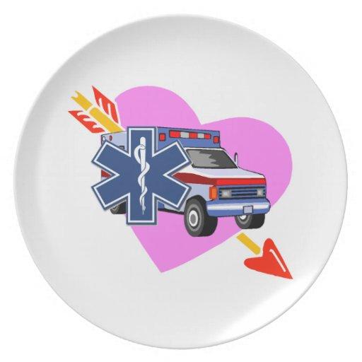 EMS Heart of Care Dinner Plates