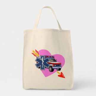 EMS Heart of Care Grocery Tote Bag