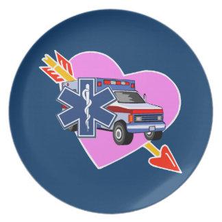 EMS Heart of Care Melamine Plate