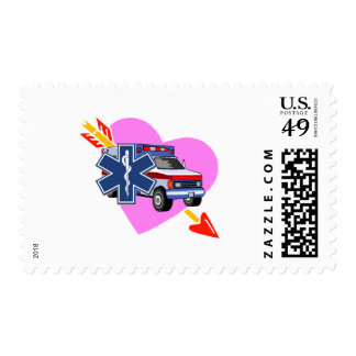 EMS Heart of Care Postage Stamp
