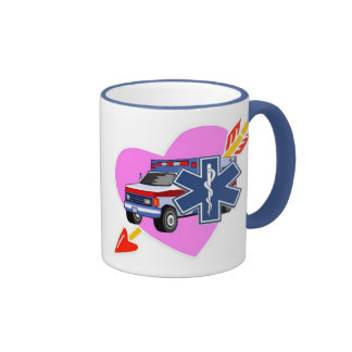 EMS Heart of Care Ringer Coffee Mug