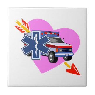 EMS Heart of Care Small Square Tile
