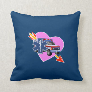EMS Heart of Care Throw Pillow