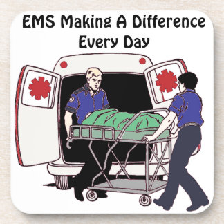 EMS Making a Difference Every Day Drink Coaster