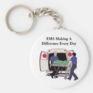 EMS Making A Difference Every Day Keychain