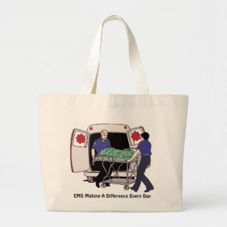 EMS Making a Difference Every Day Large Tote Bag