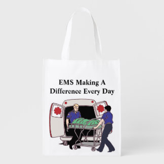 EMS Making A Difference Every Day Reusable Bag Reusable Grocery Bag