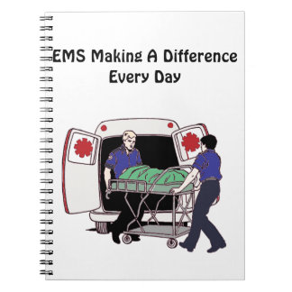 EMS Making a Difference Every Day Spiral Notebook