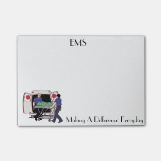 EMS Making A Difference Everyday Post It Notes