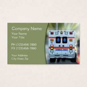 Ems emt business cards templates zazzle ems medical emergency business card colourmoves Image collections