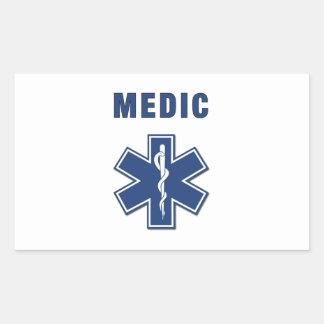EMS ParaMedic Star of Life Rectangular Sticker
