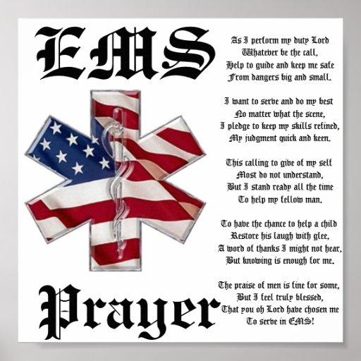 EMS Prayer Poster | Zazzle.com