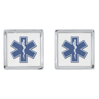 EMS SILVER FINISH CUFF LINKS