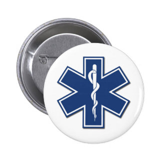 EMS Star of Life Pinback Buttons