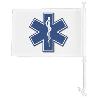 EMS Star of Life Car Flag