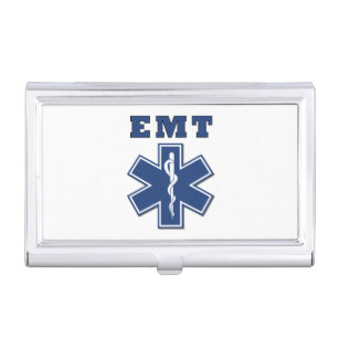 Ems business card holders cases zazzle ems star of life case for business cards colourmoves Image collections