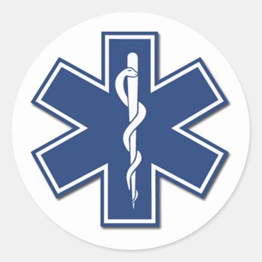 EMS Star of Life Classic Round Sticker