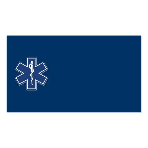 EMS Star of Life Double-Sided Standard Business Cards (Pack Of 100)