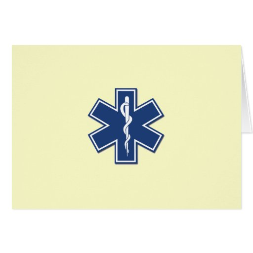 EMS Star of Life Greeting Card