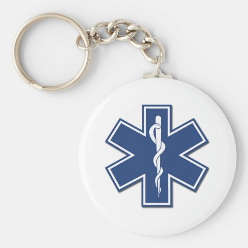 EMS Star of Life Keychain