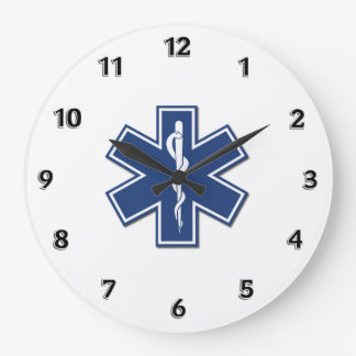 EMS Star of Life Large Clock