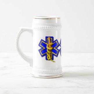 EMS Star of Life Medical First Responder Beer Stein