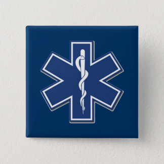 EMS Star of Life Pinback Button