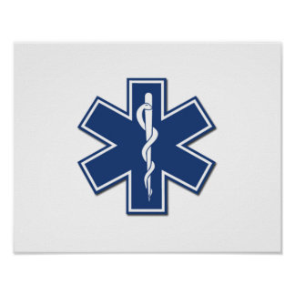 EMS Star of Life Poster