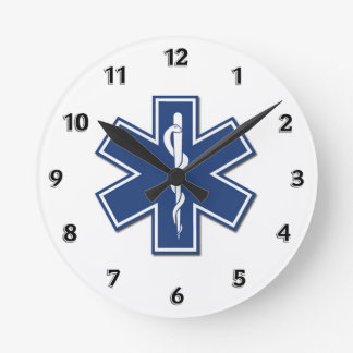 EMS Star of Life Round Clock