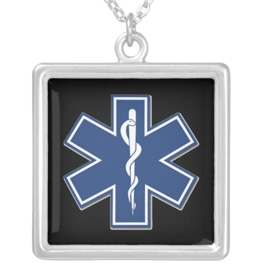 EMS Star of Life Silver Plated Necklace