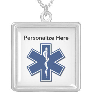 EMS Star of Life Square Pendant Necklace