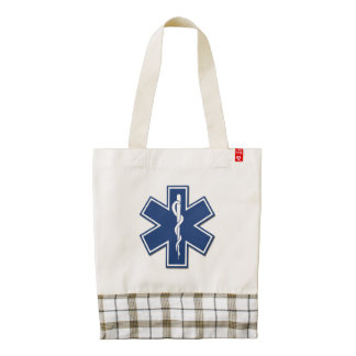 EMS Star of Life Zazzle HEART Tote Bag