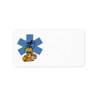 EMS Thanksgiving For EMT and Paramedics Custom Address Label