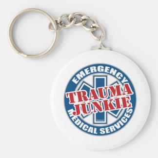EMS Trauma Junkie Keychain