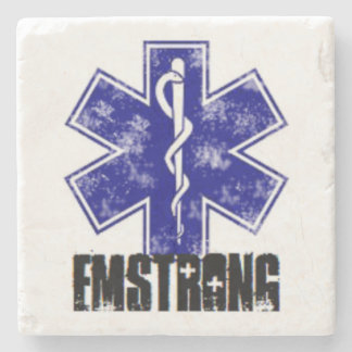 EMSTRONG (logo only) Stone Beverage Coaster