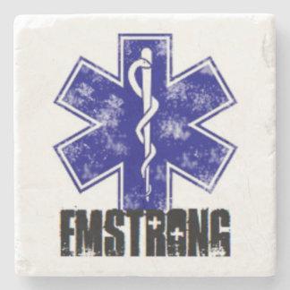 EMSTRONG (logo only) Stone Beverage Coaster