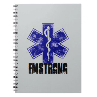 EMSTRONG (logo only) Spiral Notebook