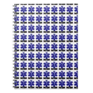 EMSTRONG (logo only, tiled) Notebook