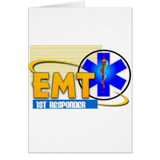 EMT 1ST RESPONDER EMERGENCY MEDICAL TECHNICIAN GREETING CARDS
