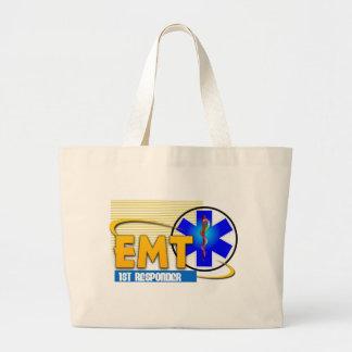 EMT 1ST RESPONDER EMERGENCY MEDICAL TECHNICIAN LARGE TOTE BAG