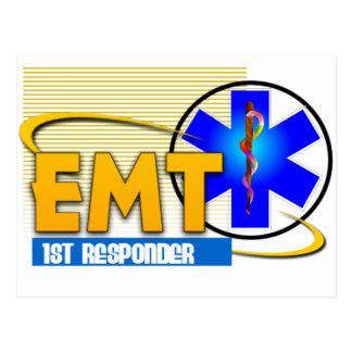 EMT 1ST RESPONDER EMERGENCY MEDICAL TECHNICIAN POST CARD