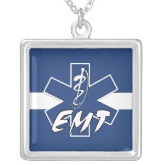 EMT Active Square Pendant Necklace